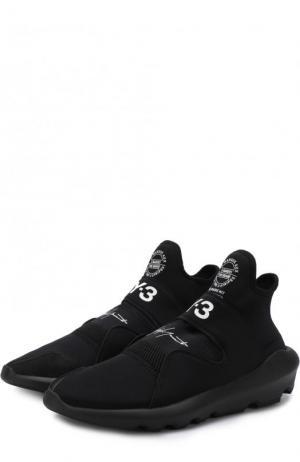 Высокие текстильные кроссовки Suberou Y-3. Цвет: черный