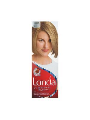 Крем-краска для волос упрямой седины стойкая 68+ Средний блондин LONDA. Цвет: белый, красный