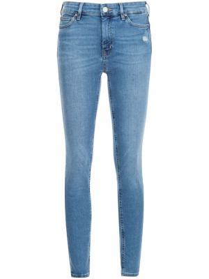 Джинсы кроя скинни  Bridge Mih Jeans. Цвет: синий