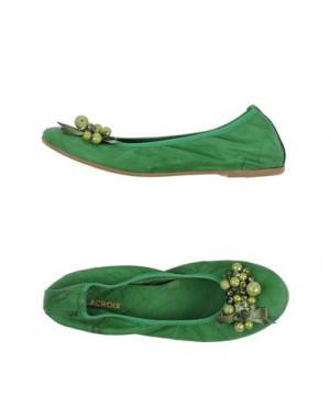 Балетки J.J.DELACROIX. Цвет: зеленый