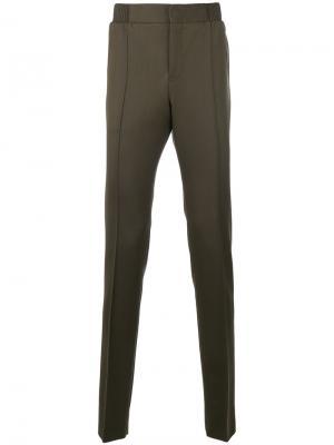 Классические брюки Berluti. Цвет: зелёный