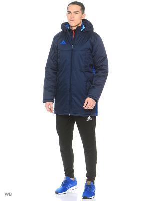 Куртка CON16 STD JKT Adidas. Цвет: темно-синий