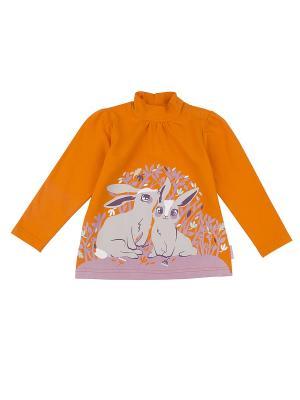Водолазка для девочки KOGANKIDS. Цвет: оранжевый