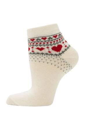 Носки, 2 пары HOSIERY. Цвет: белый