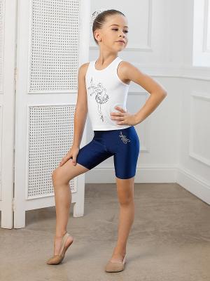 Майка для девочек Arina Ballerina. Цвет: белый