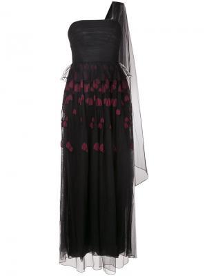 Embroidered lace dress Ingie Paris. Цвет: чёрный