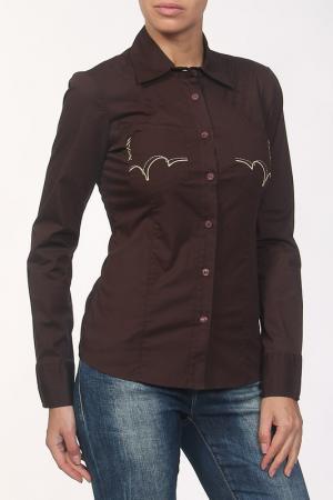 Рубашка Cheyenne. Цвет: коричневый