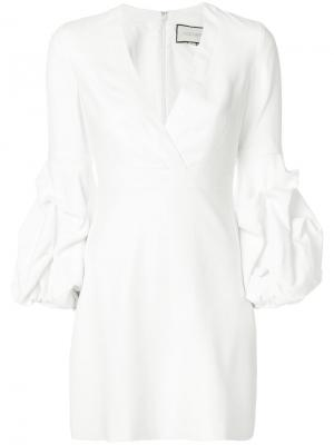 Платье с V-образным вырезом Alexis. Цвет: белый