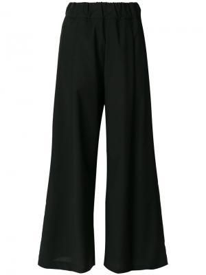 Широкие брюки Semicouture. Цвет: чёрный