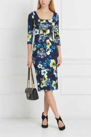 Платье с принтом Tess Erdem. Цвет: синий, зеленый