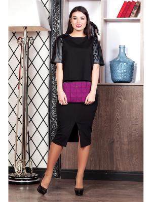 Блузка RUXARA. Цвет: черный
