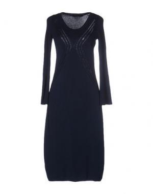 Платье до колена TENAX. Цвет: темно-синий