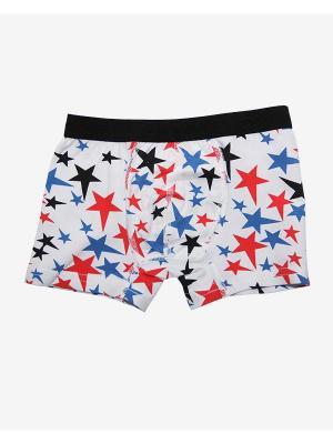 Трусы боксеры Oztas kids' underwear. Цвет: черный, белый, красный, темно-синий
