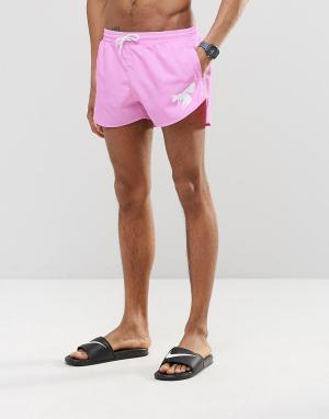 Abuze London Розовые короткие шорты для плавания. Цвет: розовый