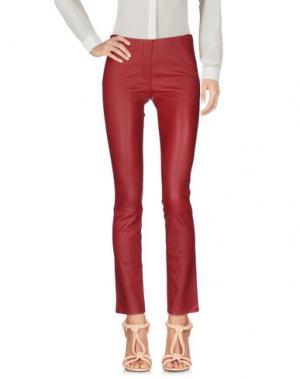 Повседневные брюки TAMARA MELLON. Цвет: красно-коричневый