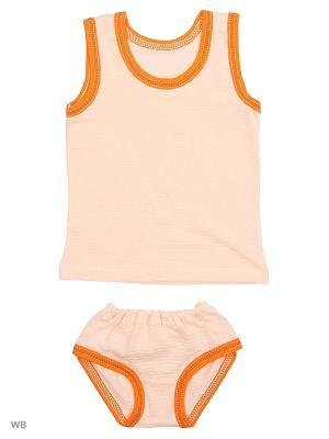 Комплект белья Babycollection. Цвет: персиковый
