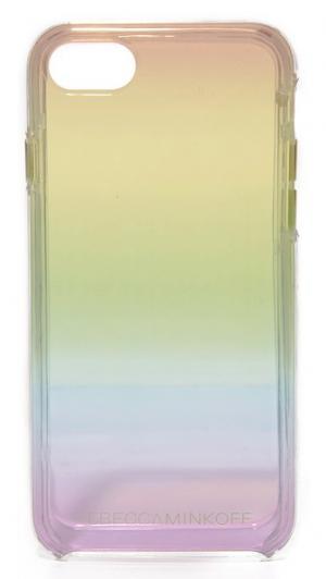 Прозрачный чехол для iPhone 7 с радужной отделкой эффектом «омбре» Rebecca Minkoff
