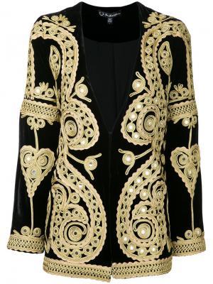 Пиджак с вышивкой и зеркальными вставками For Love And Lemons. Цвет: чёрный