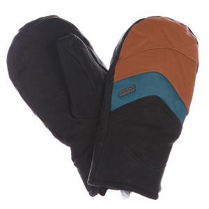Варежки сноубордические  Stealth Tt Gtx Mitt Hunter Pow. Цвет: черный,коричневый