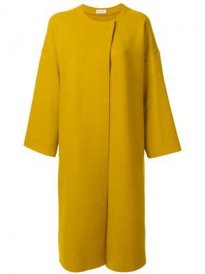 Двубортное пальто свободного кроя Masscob. Цвет: зелёный