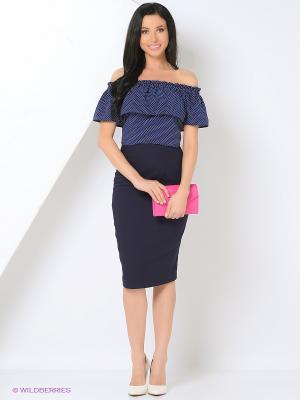 Блузка A.Karina. Цвет: синий