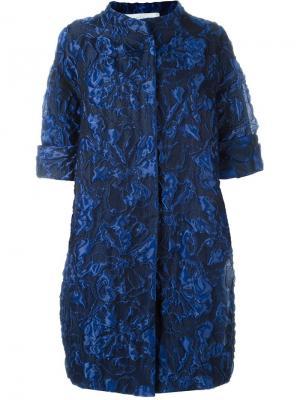 Жаккардовое пальто Gianluca Capannolo. Цвет: синий