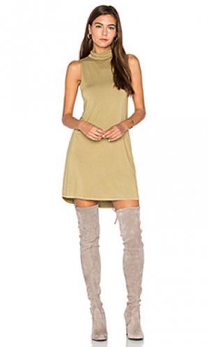 Мини платье tripp Michael Lauren. Цвет: оливковый