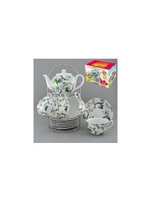 Набор чайный на метал.под. 13 пр. РОКОКО LARANGE. Цвет: белый