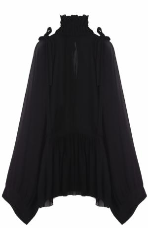 Блуза свободного кроя с воротником-стойкой Ann Demeulemeester. Цвет: черный