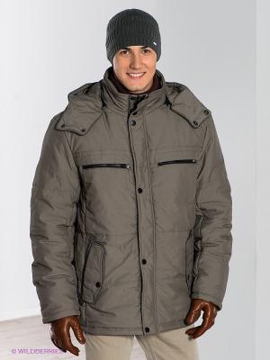 Куртка CONVER. Цвет: серо-коричневый