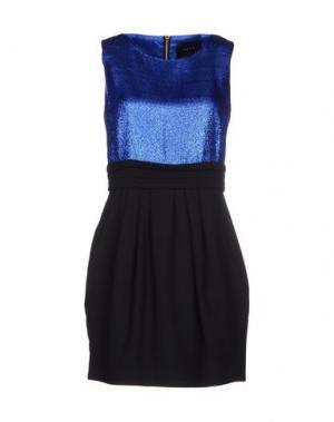Короткое платье LULU & CO. Цвет: синий