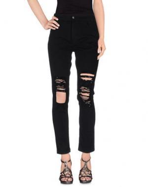 Джинсовые брюки ARIES. Цвет: черный