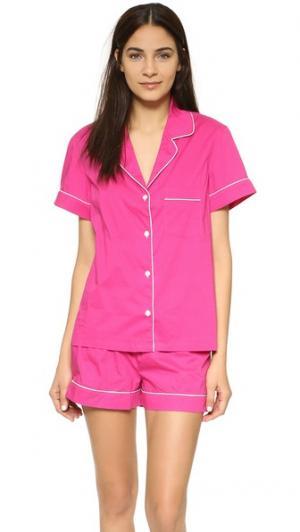 Пижама Eloise Three J NYC. Цвет: однотонный розовый/белая отделка