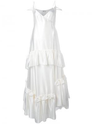 Платье Charlotte Attico. Цвет: белый
