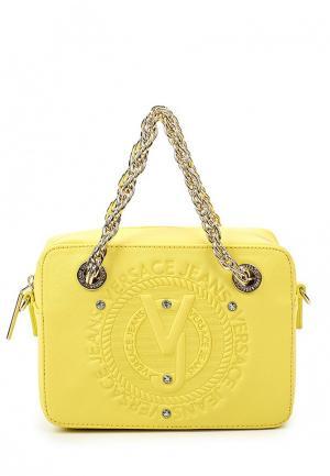 Сумка Versace Jeans. Цвет: желтый