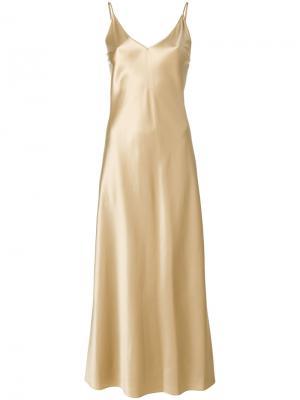 Длинное платье  на бретелях Joseph. Цвет: телесный