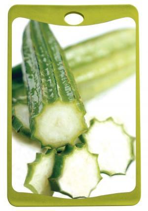 Доска разделочная Frybest. Цвет: зеленый (зеленый, белый)