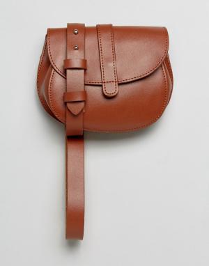 Reclaimed Vintage Светло-коричневая сумка на пояс Inspired. Цвет: рыжий
