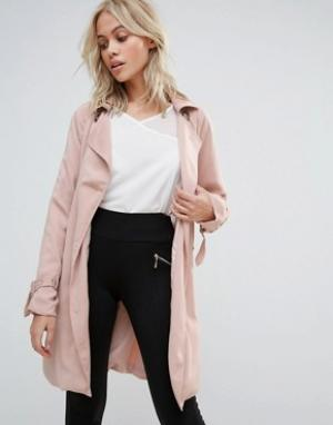 Parisian Тренч. Цвет: розовый