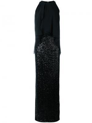 Вечернее платье с пайетками Talbot Runhof. Цвет: чёрный