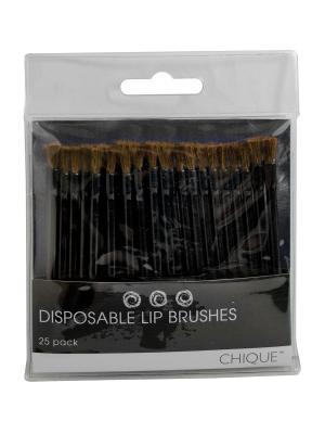 Одноразовые кисти для губ Disposable Lip Brushes.  ( 25шт./упак.) Royal&Langnickel. Цвет: черный