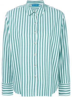Рубашка в полоску Mih Jeans. Цвет: белый