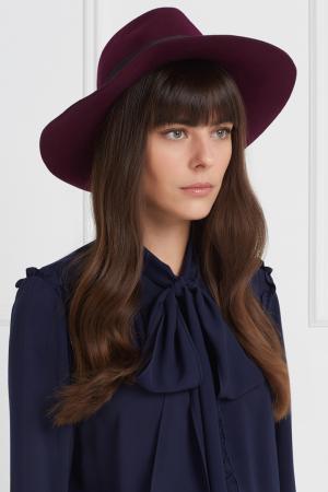 Фетровая шляпа Clasico Wide Brim Artesano. Цвет: фиолетовый