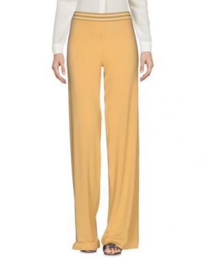 Повседневные брюки SIYU. Цвет: охра
