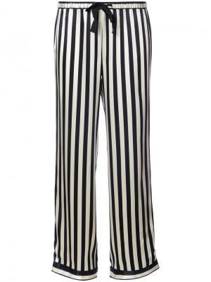 Пижамные брюки в полоску Morgan Lane. Цвет: чёрный