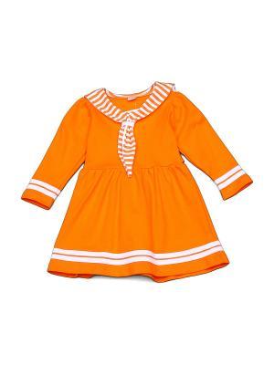 Платье БЕБИ БУМ Сиб. Цвет: оранжевый