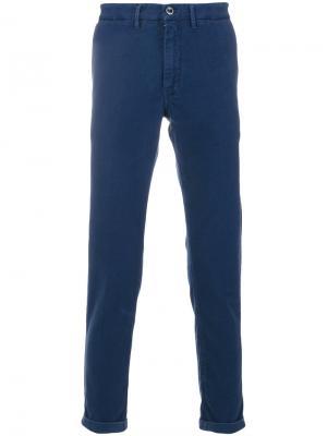 Классические брюки-чинос Re-Hash. Цвет: синий