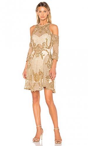 Платье vanderbilt THURLEY. Цвет: металлический золотой