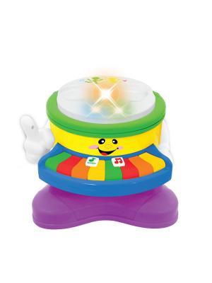 Развивающая игрушка Барабан - пианино Kiddieland. Цвет: зеленый, фиолетовый, желтый