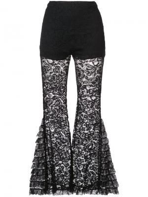 Расклешенные брюки с кружевом Givenchy. Цвет: чёрный
